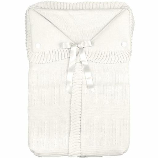 Saco lencero para cochecito en crudo