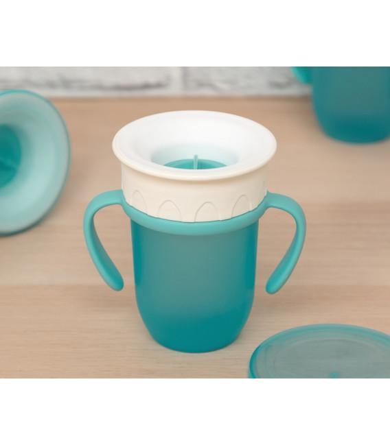Vaso antiderrame Step 3 CON asas en azul