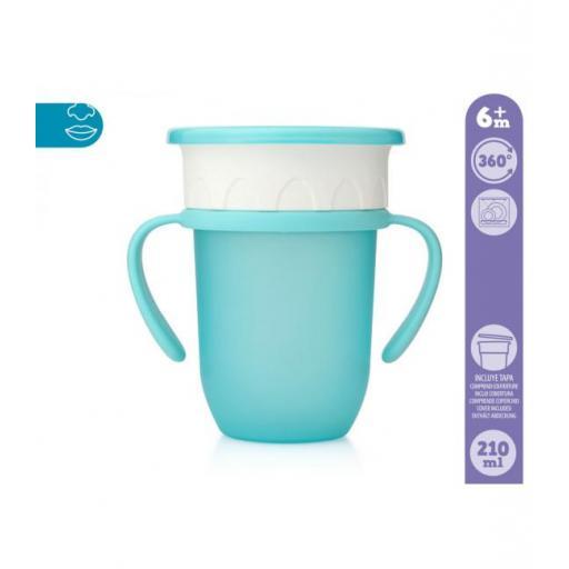 Vaso antiderrame Step 3 CON asas en azul [1]