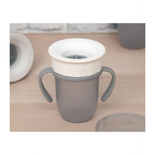 Vaso antiderrame Step 3 CON asas en gris