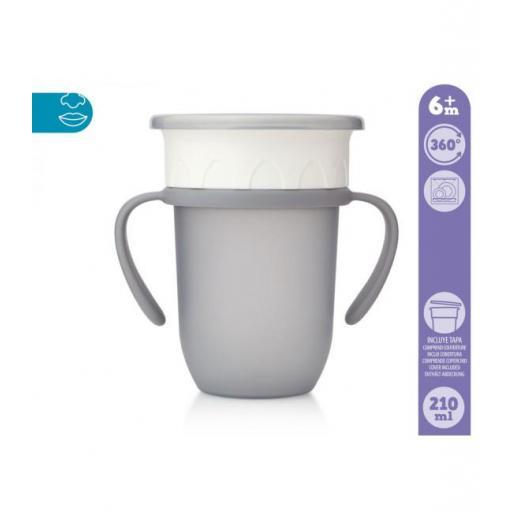 Vaso antiderrame Step 3 CON asas en gris [1]