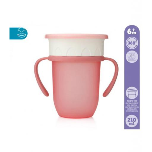 Vaso antiderrame Step 3 CON asas en rosa [1]