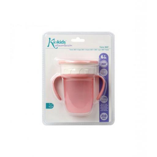 Vaso antiderrame Step 3 CON asas en rosa [3]
