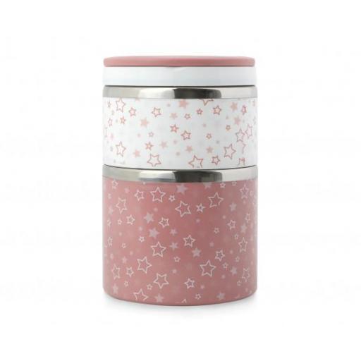 Termo papillero doble inoxidable en rosa [2]