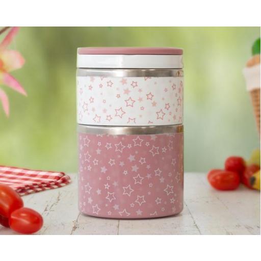 Termo papillero doble inoxidable en rosa [1]