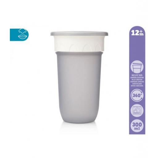 Vaso antiderrame Step 3 SIN asas en gris [1]