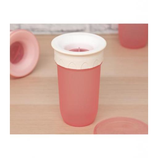 Vaso antiderrame Step 3 SIN asas en rosa