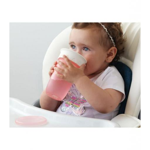 Vaso antiderrame Step 3 SIN asas en rosa [2]