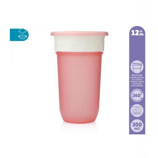 Vaso antiderrame Step 3 SIN asas en rosa [1]