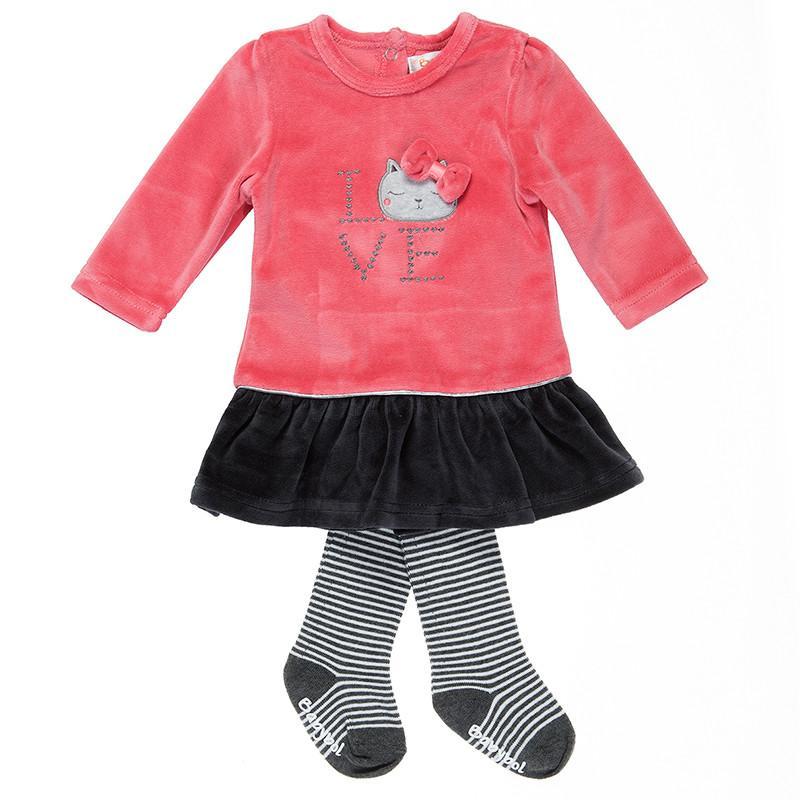 Vestido de niña con leotardos Love