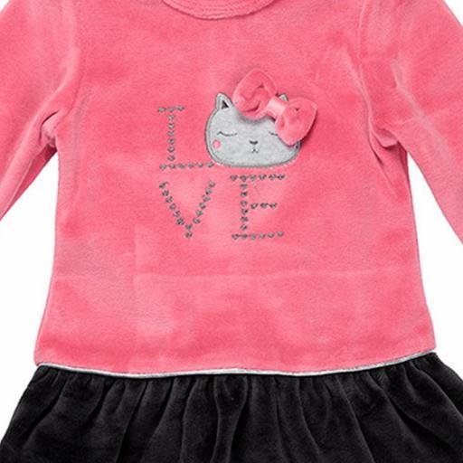 Vestido de niña con leotardos Love [1]