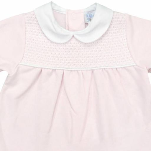 Vestido de niña afelpado en rosa Canesú [1]