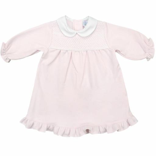 Vestido de niña afelpado en rosa Canesú