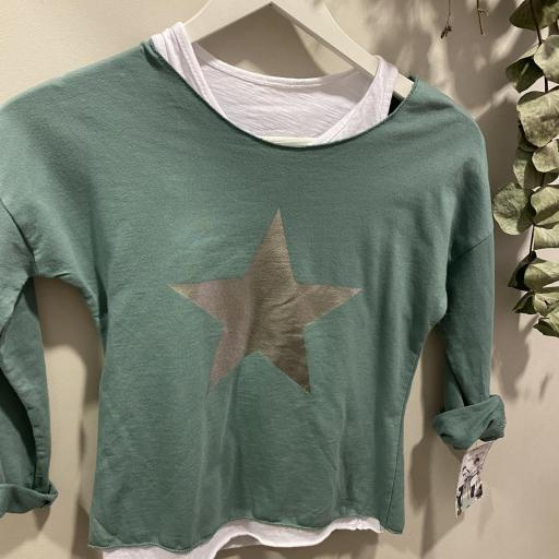 Camiseta estrella doble