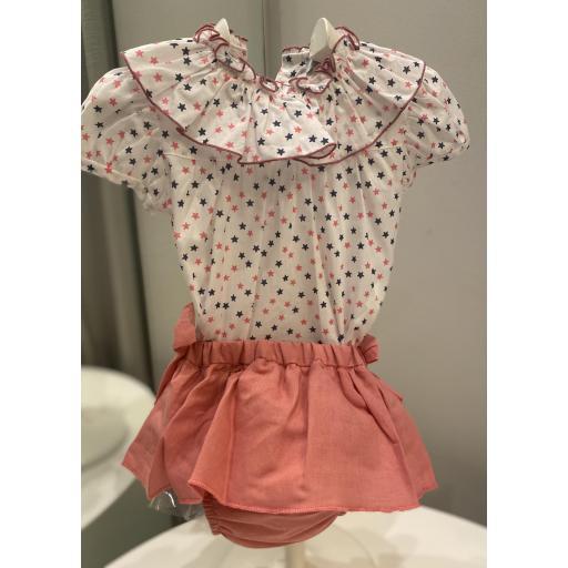 Conjunto blusa Estrellas