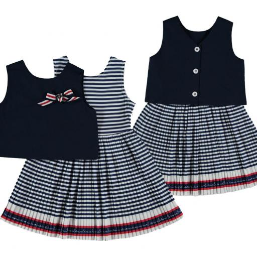 Vestido doble plisado  [1]