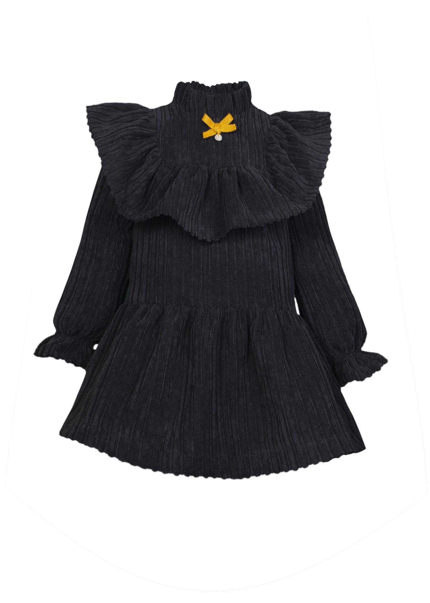 Vestido pana negro