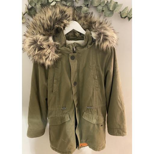 Abrigo verde militar pepe jeans