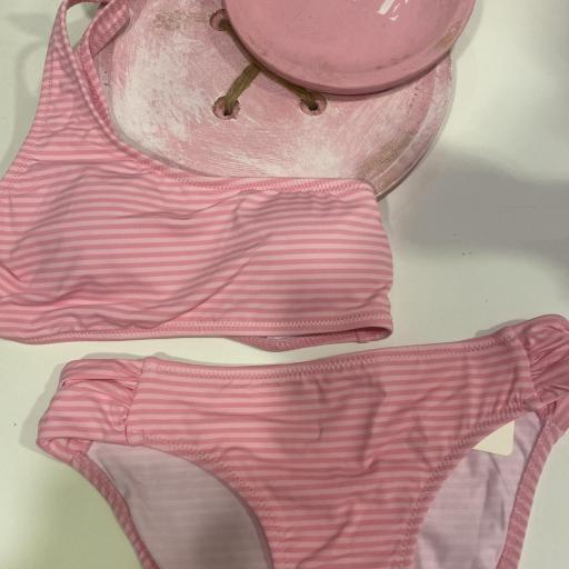 Bikini rayas rosas