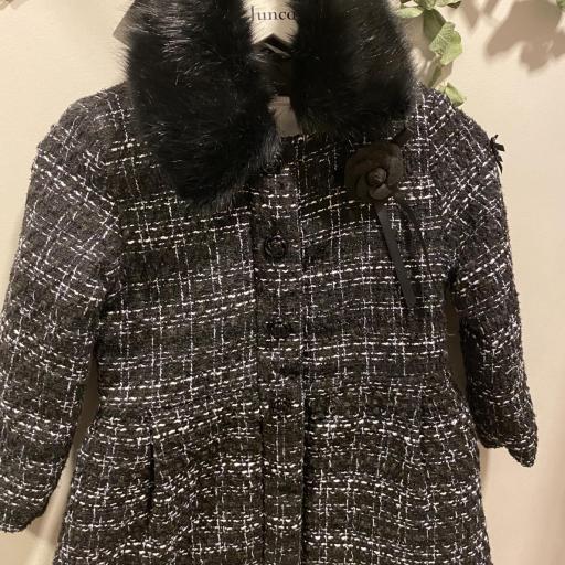 Abrigo cheviot negro  [1]