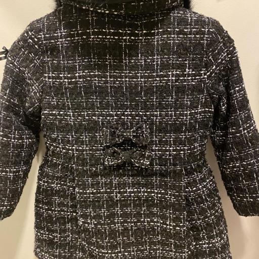 Abrigo cheviot negro  [0]