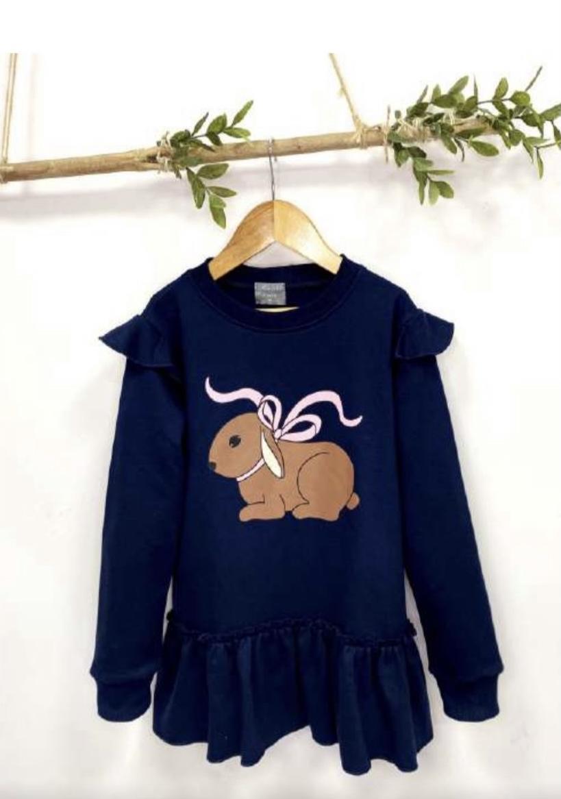 Vestido punto conejo