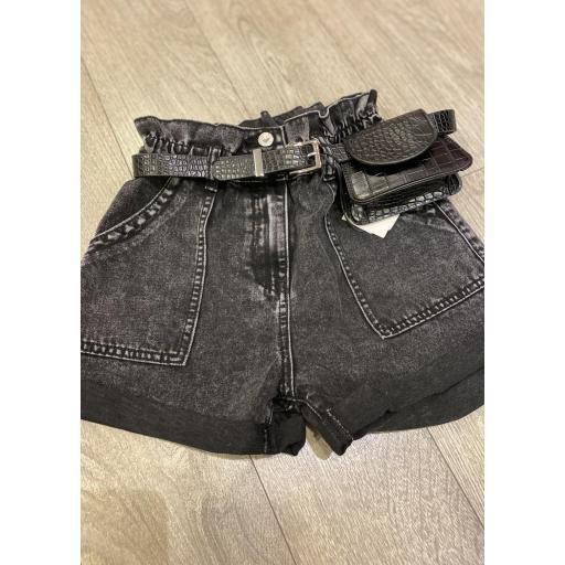 Short denim negro mas bolso  [1]