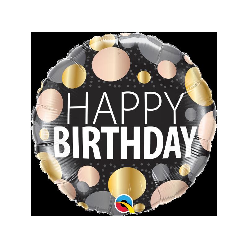 "18"" Birthday big Metallic Dots"
