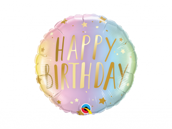 "18"" Birthday Pastel Ombre & Stars"