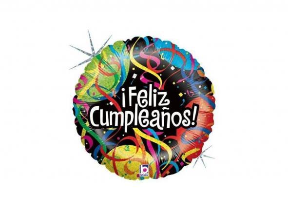 """18"""" Feliz Cumpleaños Cintas Holog"""