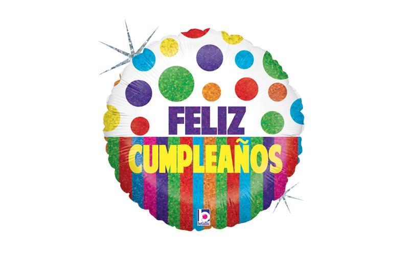 "Globo 18"" cumpleaños franjas"