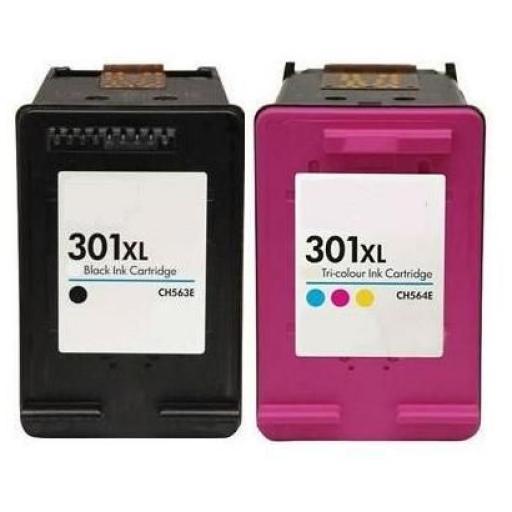HP 301XL V3 PACK AHORRO CARTUCHOS GENERICOS (VALIDOS PARA LAS NUEVAS IMPRESORAS)