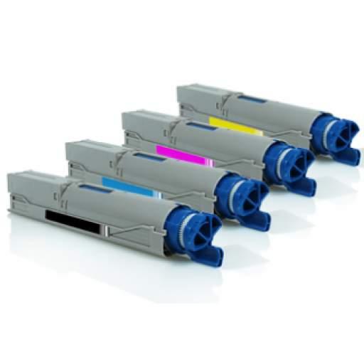 PACK AHORRO TÓNER GENERICO OKI C3300/C3400/C3450/C3520/C3530MFP/C3600/MC350/MC360 4 UNIDADES