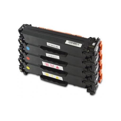 HP CF380X/CF381A/CF382A/CF383A PACK AHORRO TONER GENERICO. 4 UNIDADES