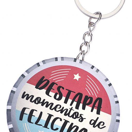 """LLAVERO CHAPA ABRIDOR """"MOMENTOS DE FELICIDAD"""""""