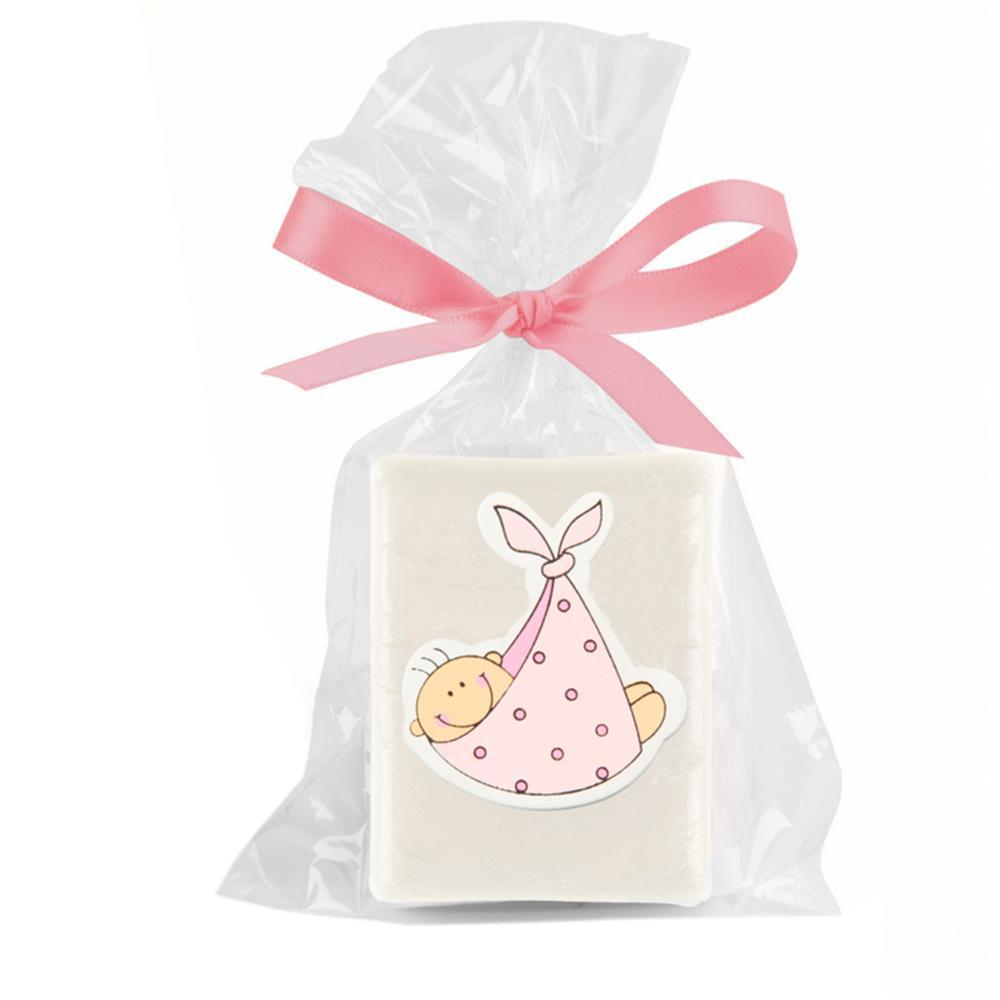 jabón baby azul en bolsa de regalo + lazo