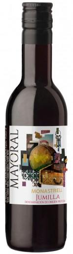 caja de 24 botellas de vino mayoral cosecha 187 ml