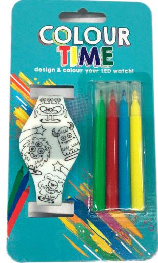 Reloj Led para Colorear
