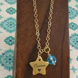 Colgante Oro brillante  Estrella [0]