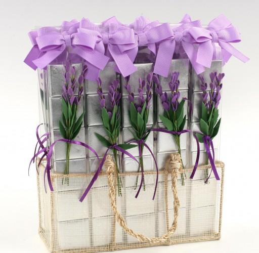 Expositor 30 tiras 6 napolitanas flor lavanda