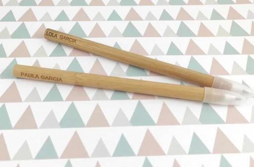 Bolígrafo bambú grabado