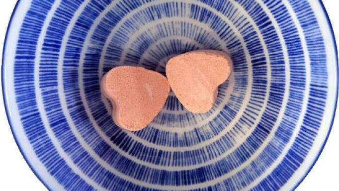 Corazón efervescente con aroma Mango [1]