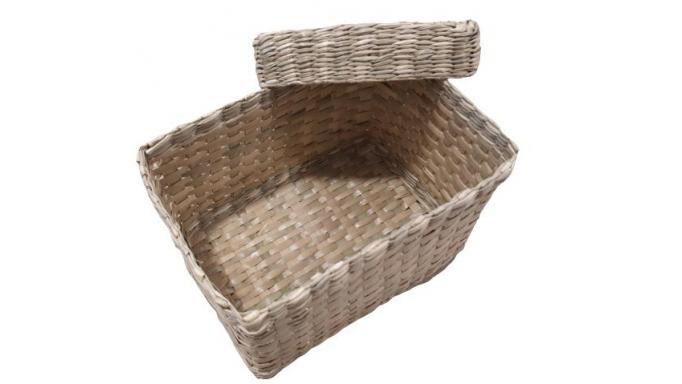 Caja pequeña de junco con tapa