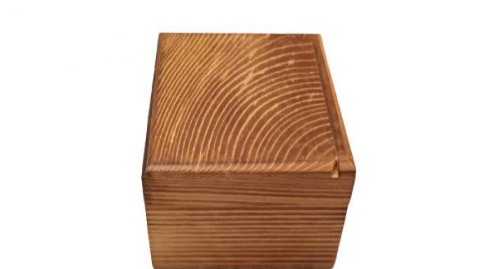 Caja mini de madera con tapa