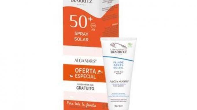 Spray solar cara & cuerpo SPF50 150ml con certificado BIO.