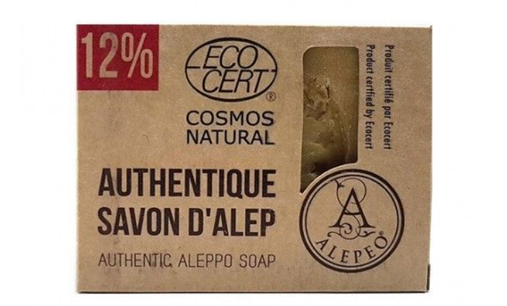 Jabón natural de Alepo 12% certificado Eco Cert.