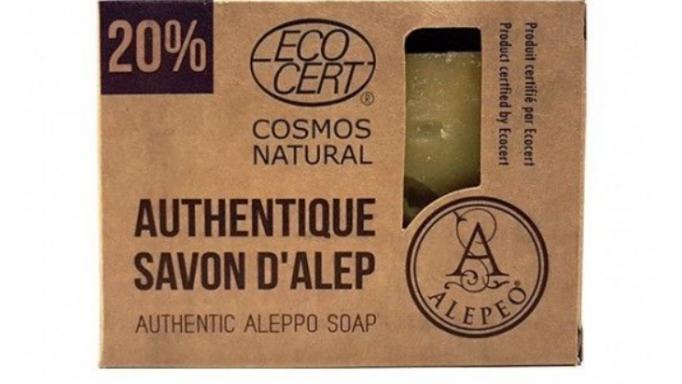 Jabón natural de Alepo 20% certificado Eco Cert.