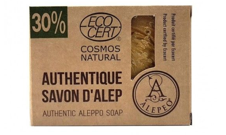 Jabón natural de Alepo 30% certificado Eco Cert.