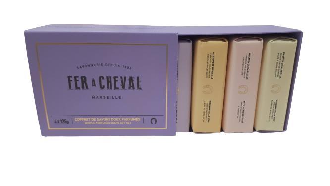 4 jabones perfumados - Pétalos de Rosa, Lavanda,  Miel & almendras, Té blanco Yuzu
