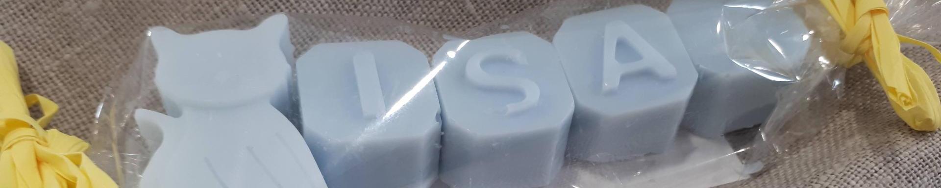 Detalles para eventos - Letras de jabón de glicerina